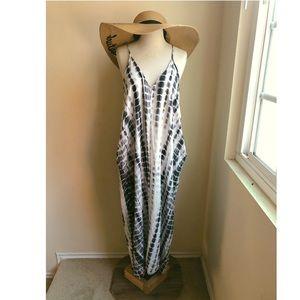 Lovestitch Tie Dye Maxi Dress with Pockets